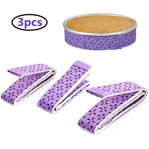 Cake Strip Bake Even Strip 3 pack,Cake Pan Strips,Super Absorbent Thick Cotton Cake Strips for - Cake Wrap