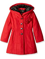 "Jessica Simpson Little Girls' ""Wool Flowers"" Hooded Peacoat"