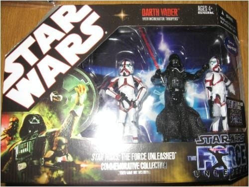 Star Wars Saga 2008 The Force Unleashed Exclusive Commemorative Collection Darth Vader with Incinerator Troopers