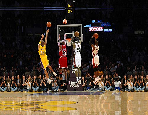 Generies Canvas Painting Wall Art, Inspirational Wall Art Decoration Posters Prints for Basketball Fan Memorabilia Gifts
