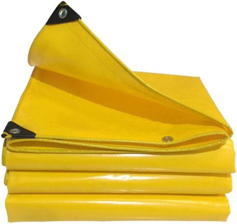XUERUI シェルター ターポリン、 防水 防水シート 折りたたみ式 ポータブル 強化された リップストップ ルーフ と グロメット スポーツ アウトドア (Color : 黄, Size : 4x5m) 黄 4x5m