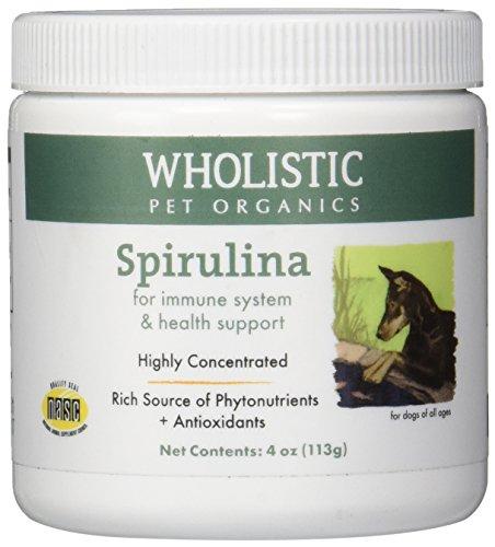 Holistique pour animaux de compagnie Organics spiruline pour chiens, 4 oz.