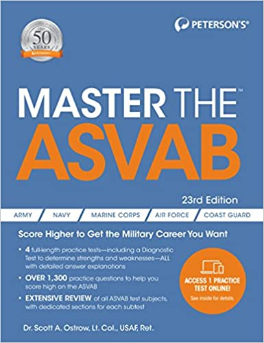 Amazon Com Master The Asvab Master The Asvab Book Only 9780768942415 Peterson S Books