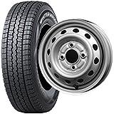 スタッドレスタイヤ 145R12 6PR・ホイール1本セット 12インチ  DUNLOP(ダンロップ) ウィンターマックスWMSV-01 145R12 6PR + YF10 1240 4/100 +42
