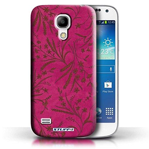 Etui pour Samsung Galaxy S4 Mini / Rose/Orange conception / Collection de Motif floral blé