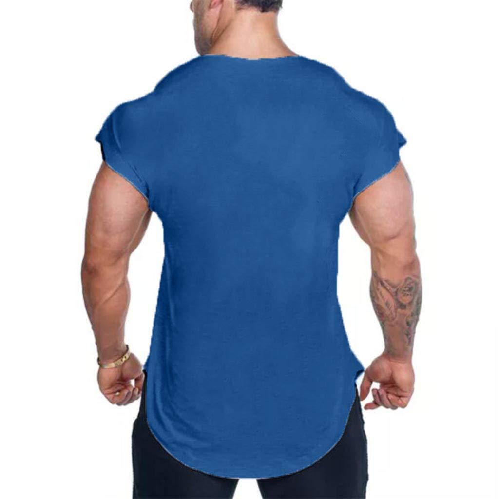 Jiayit Men's Shirt Short Sleeve Plaid Tee Casual Top Pullover Basic Henley Blouse by Jiayit Men Blouse (Image #2)