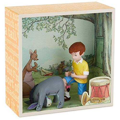 Hallmark 1HUN2023 – Hundred Acre Wood Fixing Eeyore s Tail Shadow Box W Figurine