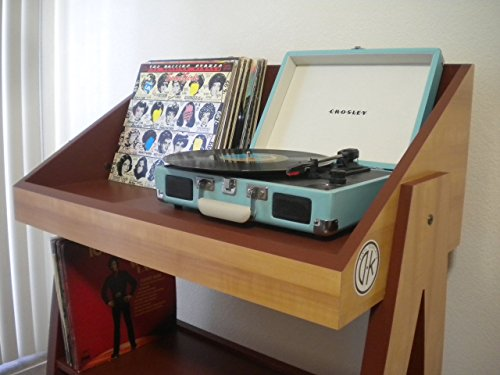 Record player and vinyl storage stand