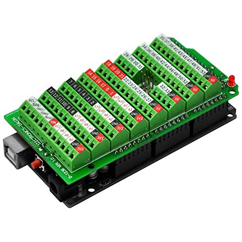 Electronics-Salon Screw Terminal Block Breakout Module, for Arduino MEGA-2560 R3.
