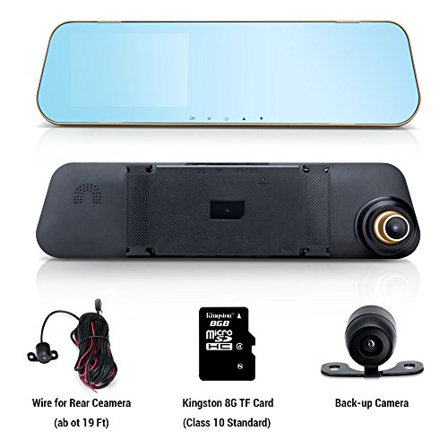 8 Channel Dvr Board (Wonyered Dual Lens Mirror Cam Full HD 1080P with 8G TF Card Included 170°Wide Angle 4.3 Inch Screen G-Sensor Loop Recording Night Vision)