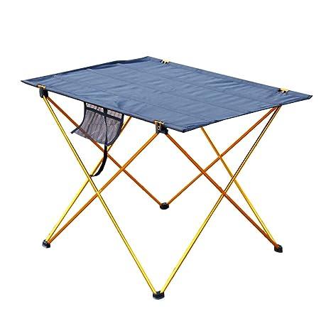 SUREH Mesa de Camping Plegable de Aluminio, portátil, Mesa de ...