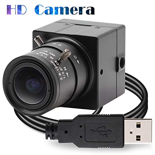 Camera USB 1080P USB Webcamera , 2MP HD Web Camera Low Illumination 0.01Lux Camera USB2.0 Cable , H.264 High Definition IMX322 Webcam With 2.8-12mm Varifocal Lens Web Cams
