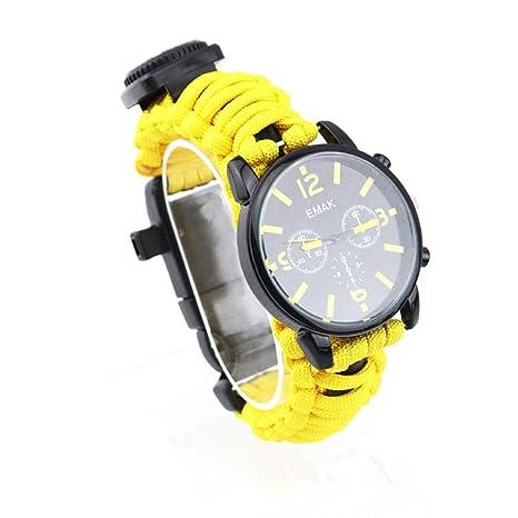 Mhwlai Reloj de Supervivencia de Traje de Hombre, Kit de ...