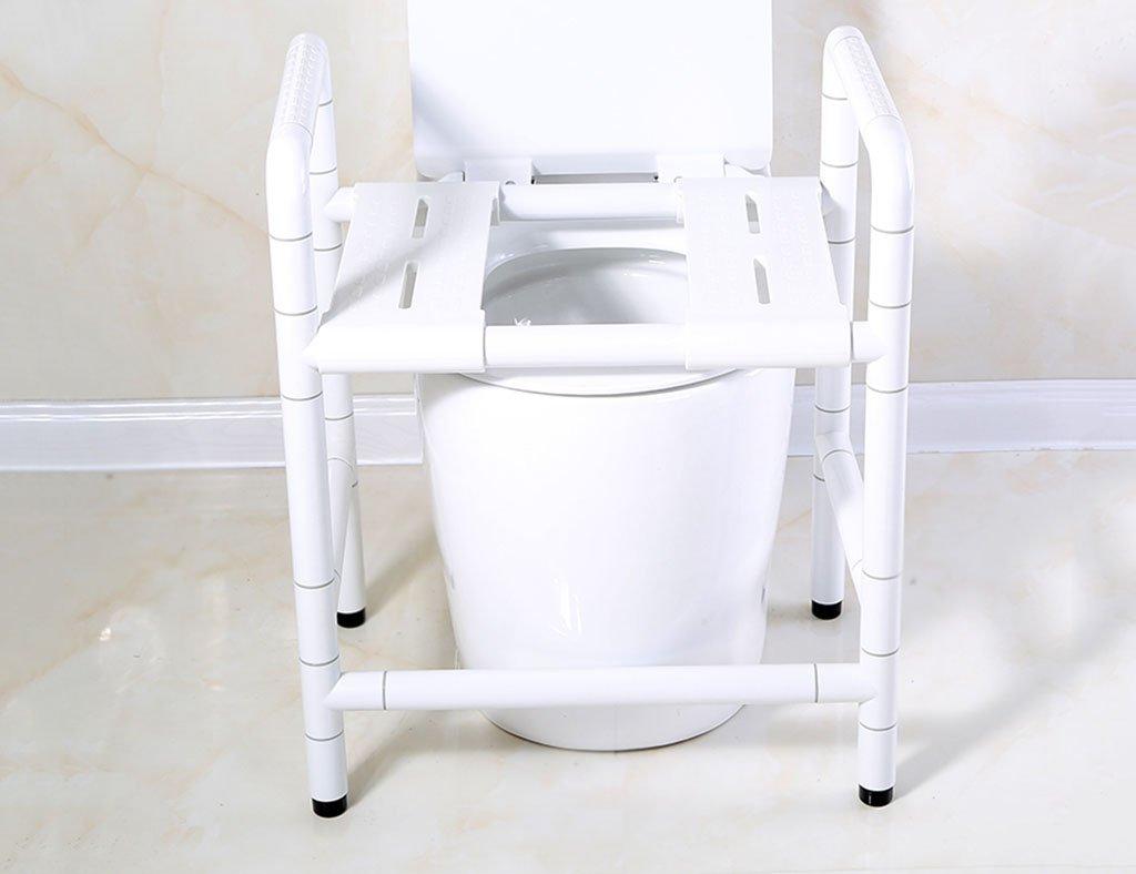 ノンスリップシャワースツールバリアフリーナイロンアームレスト高齢者障害者バスチェアカラーオプション (色 : 白)  白 B07D6G76C1