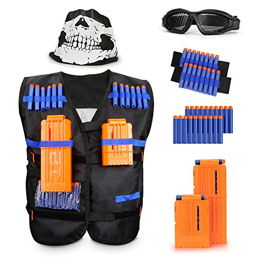 Newisland Tactical Vest Kit for Nerf Guns N-Strike Elite Series 9 Pieces by (Tactical Vest) (Tactical Vest) by Newisland
