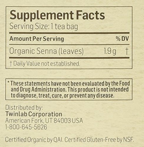 Alvita Organic Herbal Tea Senna - 24 Tea Bags by Alvita (Image #1)