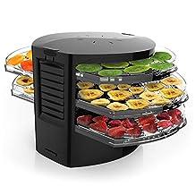 NutriChef PKFD19BK Food Dehydrator-Electric Kitchen, Jerky Maker-Dried Fruits/Meat, Black