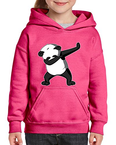 Xekia Dancing Panda Birthday Gifts Fashion People Couples Gifts Best Friend Gifts Unisex Hoodie For Girls and Boys Youth Kids Sweatshirt Clothing Medium Azalea Pink ()