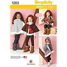 Simplicity Creative Patterns 1263 Child's Poncho and Reversible Cape, Size: A S-M-L