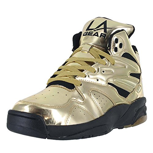 la-gear-mens-la-gear-lighted-hi-top-gold-black-size-8