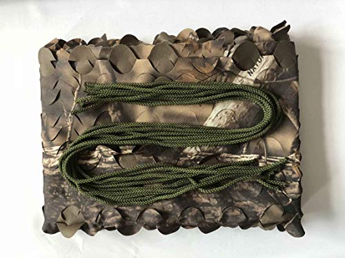 (Auscamotek 300D Woodland Camo Netting Camouflage Netting with Hanging Cord for Hunting Blinds Camping Shooting Party Decoration Brown 5ft×10ft(appro.)/1.5m×3m)