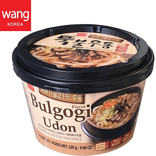 Korean Style Fresh Cup Noodle Udon [Healthy, Convenient] Easy Cook Bowl in 3 Minutes / 8.08 oz per Meal (Pack of 6) - Bulgogi (Marinated Beef) (Udon Japanese Style Noodles)