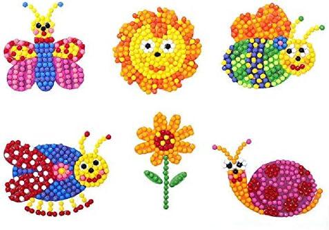 TUOLUO Kinder Diamant Malerei Kinder Diamant Aufkleber Geburtstagsgeschenke Spielzeug Telefon Tasse Notizbuch Ornamente Pädagogische Kinderspielzeug Cartoon