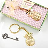 30 Warm Welcome Pineapple Themed Gold Metal Key Chains