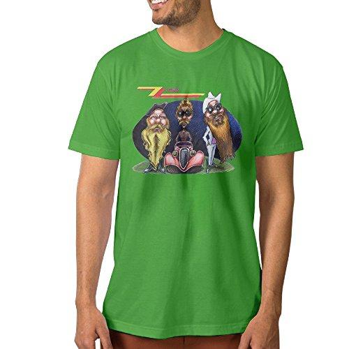 [Cool Men's T Shirts Z T C Blues Band 3X KellyGreen] (Grumpy Cat Costume Ideas)