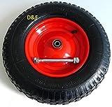 Wheelbarrow Wheel Pneumatic 4.80/4.00-8-incl. Axle Ø 380mm - 92mm width-200KG