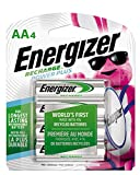 Energizer Rechargeable AA Batteries, NiMH, 2300 mAh, Pre-Charged, 4 count (Recharge Power Plus) - Packaging May Vary