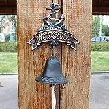 LBYMYB Vintage Cast Iron Doorbell Garden Garden Crafts Decoration Hand Bell Pendant 18x24cm doorbell