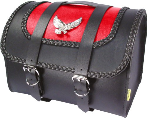 Willie & Max 58521-22 Semi-Custom Series Max Pax Red Tour Trunk with Eagle Medallion