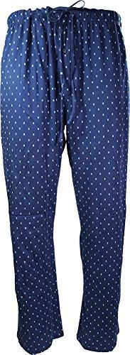Hanes Big Men's Rectangular Printed Knit Sleep Lounge Pant, Navy 40382-XXXXX by Hanes