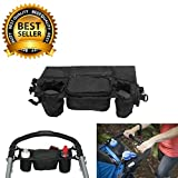 #1 Best Quality Waterproof Stroller Organizer, Stroller Accessories, Universal Black Baby Diaper Stroller Bag, Stroller Cup Holder, Fits Most Strollers.