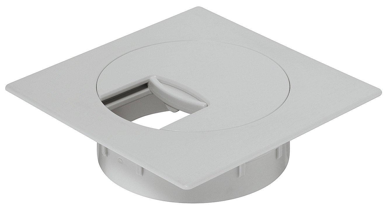 Plástico de cables para escritorio Cable pasaventanas Beige con giratorio Segmento en la tapa–H1010| Cable recipiente cuadrado de perforación 60mm de diámetro, muebles herrajes de gedotec® GedoTec®