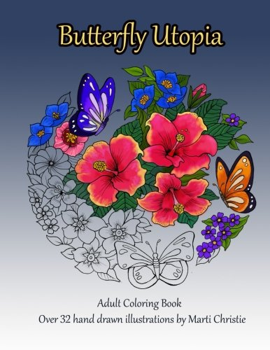 Butterfly Utopia Adult Coloring Book