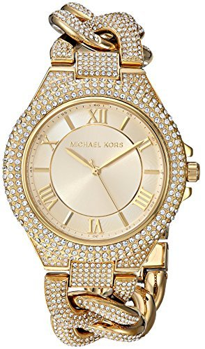 Michael Kors Women's MK3820 - Camille Pave Gold Tone One - Michael Kors Pave Watch Gold