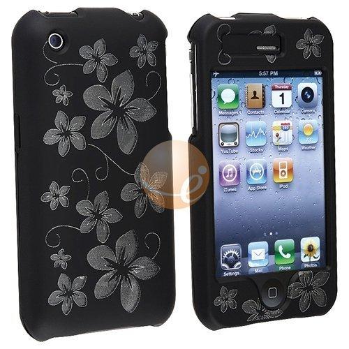 Laser Black Hawaii Premium Designer Hard Crystal Snap-on Case for Apple iPhone 3G, 3GS 3G-S - 3gs Hard Case