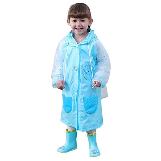 ee90ea68847c9 Baby Boys Girls Children Cartoon Reflective Tape Raincoat+Bag ...