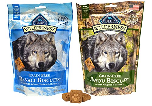 Blue Buffalo Wilderness Dog Treat Variety Pack - 2 Flavors (Denali Blend & Bayou Blend), 8-Ounces Each (2 Total Pouches)