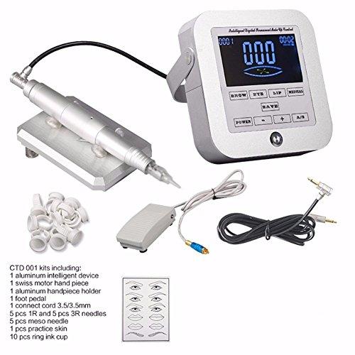 1 set digital permanent makeup tattoo device kit professional siwss motor tattoo machine kits for eyebrow lip