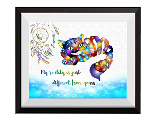 Uhomate Alice in Wonderland Cheshire Cat Alice Wonderland Home Canvas Prints Wall Art Anniversary Gifts Baby Gift Inspirational Quotes Wall Decor Living Room Bedroom Bathroom Artwork C022 (13X19)