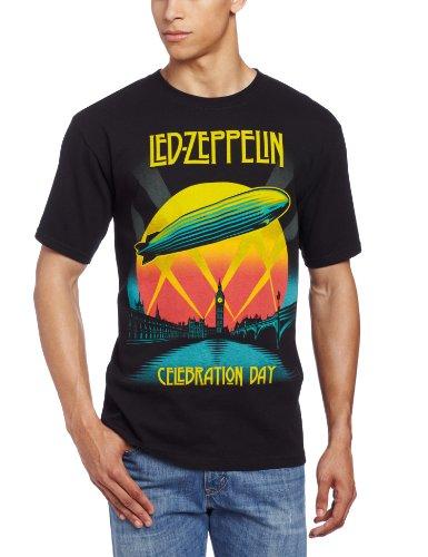 FEA Men's Led Zeppelin Celebration Day Mens T-Shirt, Black, Large (Led Zeppelin In Through The Outdoor Vinyl Value)
