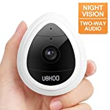 Wireless Security Camera, UOKOO 1280x720p Home Surveillance Wireless IP Camera with Night Vision/Two Way Audio White