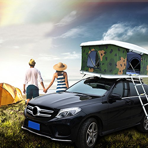 Roof Top Tent Camper Trailer Rooftop Tent with Ladder For Car& Truck Camping Car Top Auto Tent Waterproof Hard Shell