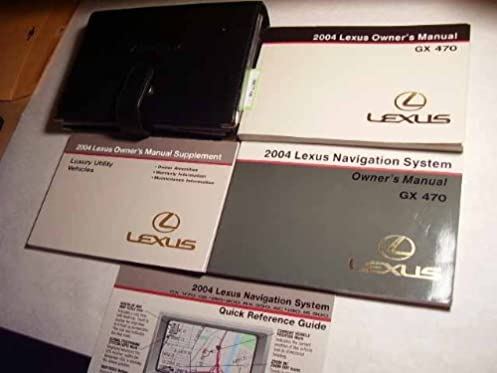 2004 lexus gx470 gx 470 owners manual lexus amazon com books rh amazon com lexus rx 450h navigation system manual lexus es 350 navigation system manual