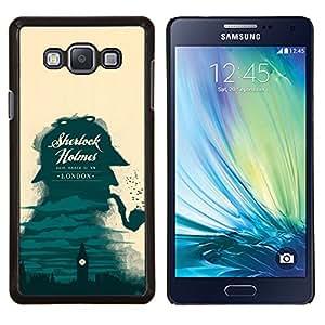 YiPhone /// Prima de resorte delgada de la cubierta del caso de Shell Armor - Sherlock detective de Londres Big Ben - Samsung Galaxy A7 A7000
