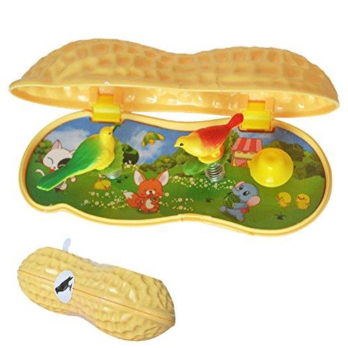 Wenasi Creative Peanut Bird Music Box, Novelty Toys Stimulate Children's Curiosity and Exploration Desire