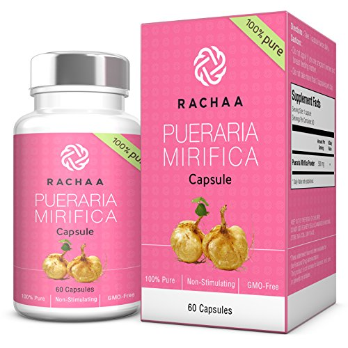 Pueraria Mirifica Capsules 500mg - 100% Pure Powder - Natural Breast And Body Tissue Firming & Enlargement - Menopause Relief - Vaginal Health - Hair & Skin Revitalizing Treatment - Safe Use